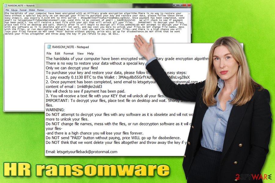 HR ransomware virus