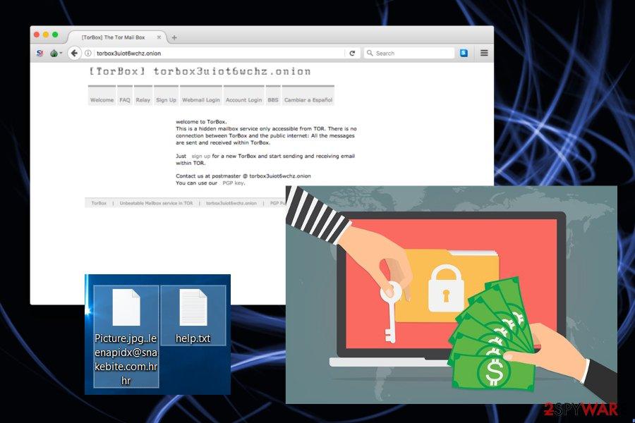 Image of HrHr ransomware