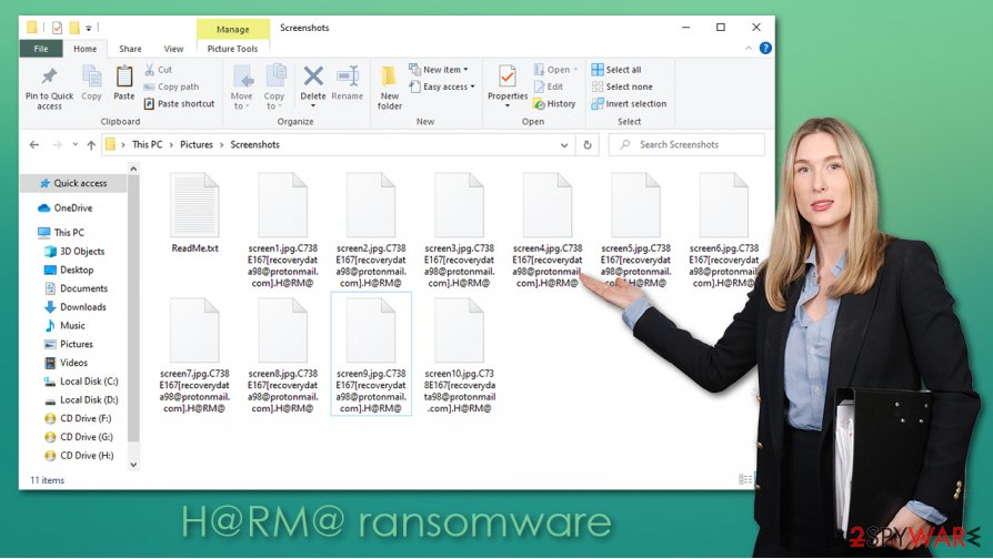 H@RM@ ransomware virus