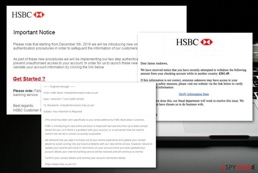 HSBC email virus