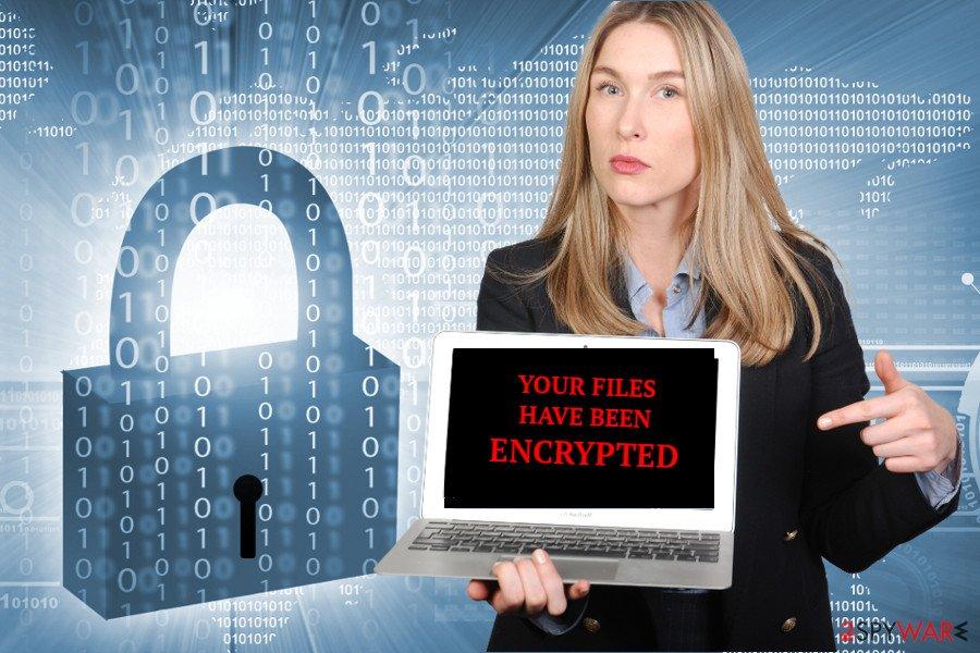 The image of HugeMe ransomware virus