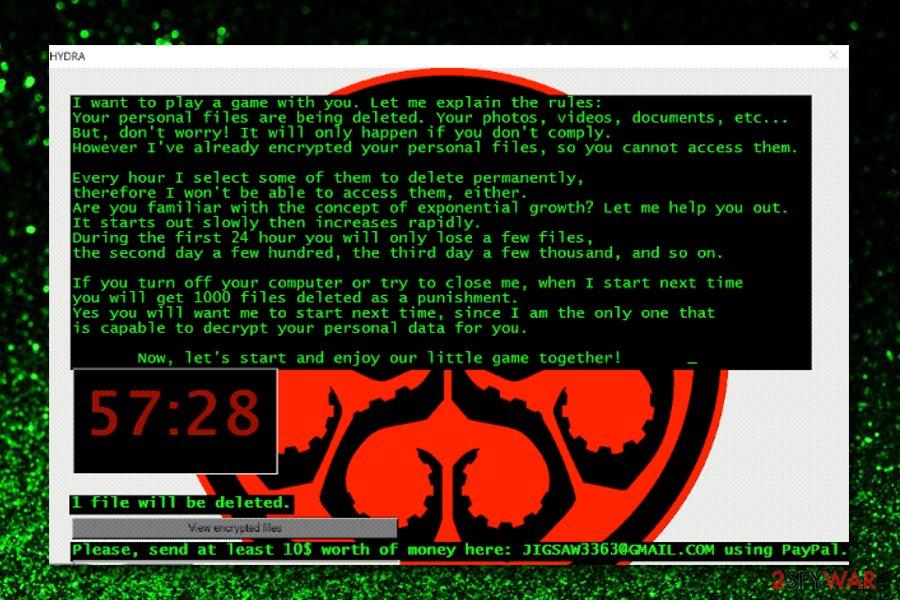 Hydra ransomware virus