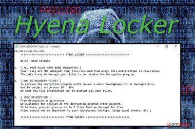 Hyena Locker virus