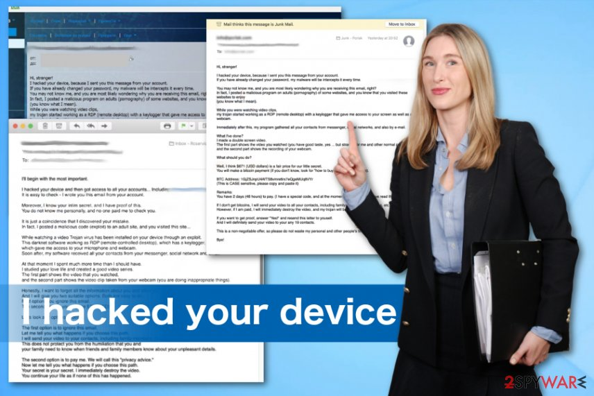 I hacked your device malware