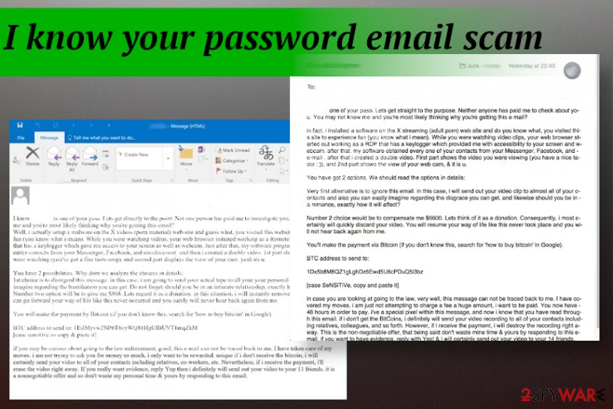 I know your password email