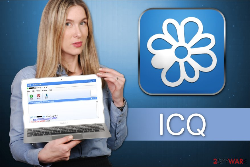 The illustration of ICQ virus
