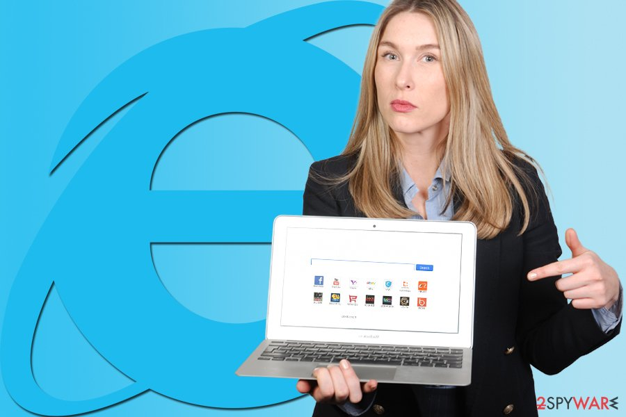 The picture of IE redirect virus