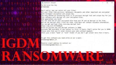 Igdm ransomware