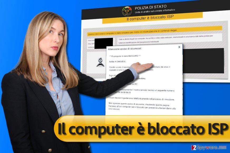 Il computer è bloccato ISP malware