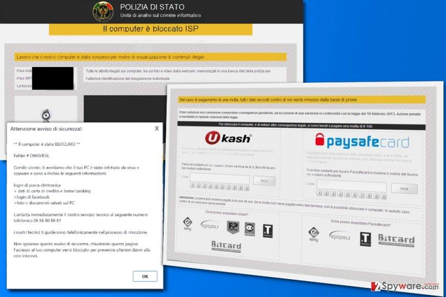 Il computer è bloccato ISP virus