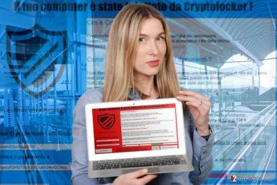 Image of Il tuo computer e stato infettato da Cryptolocker lock screen