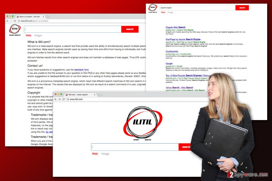 The illustration of Ilitil.com virus
