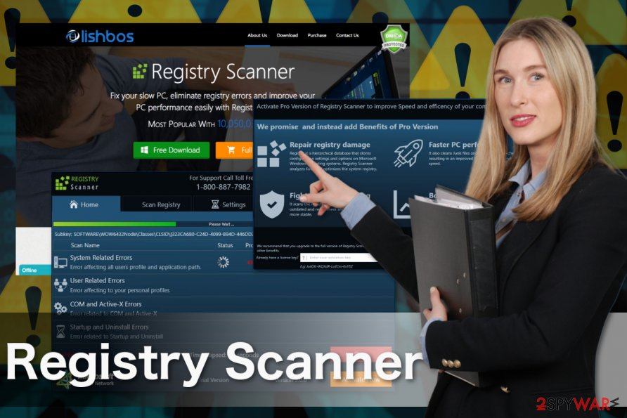 Image displaying Registry Scanner virus