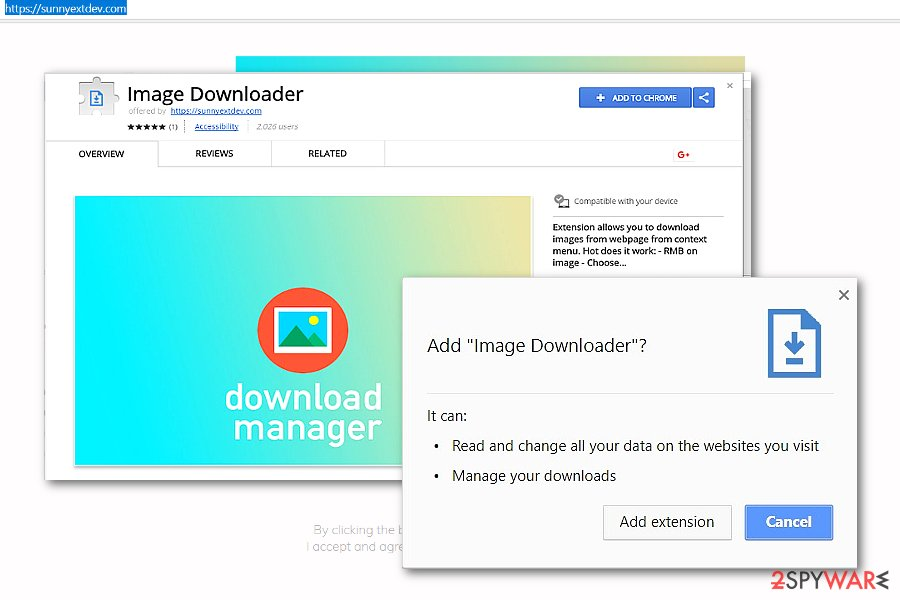 Image Downloader add-on sample