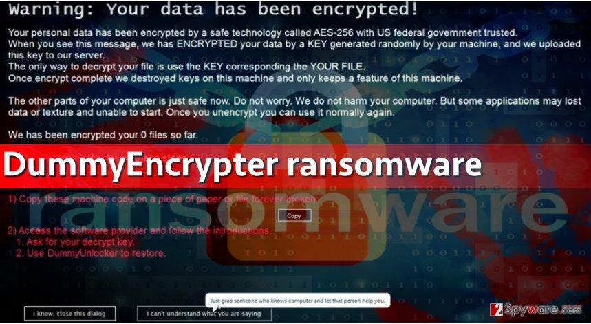 Image of DummyEncrypter ransomware