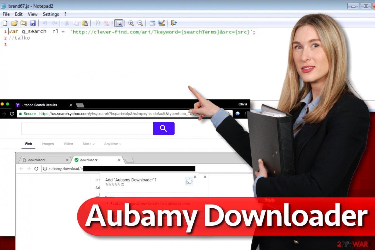 Aubamy Downloader extension virus