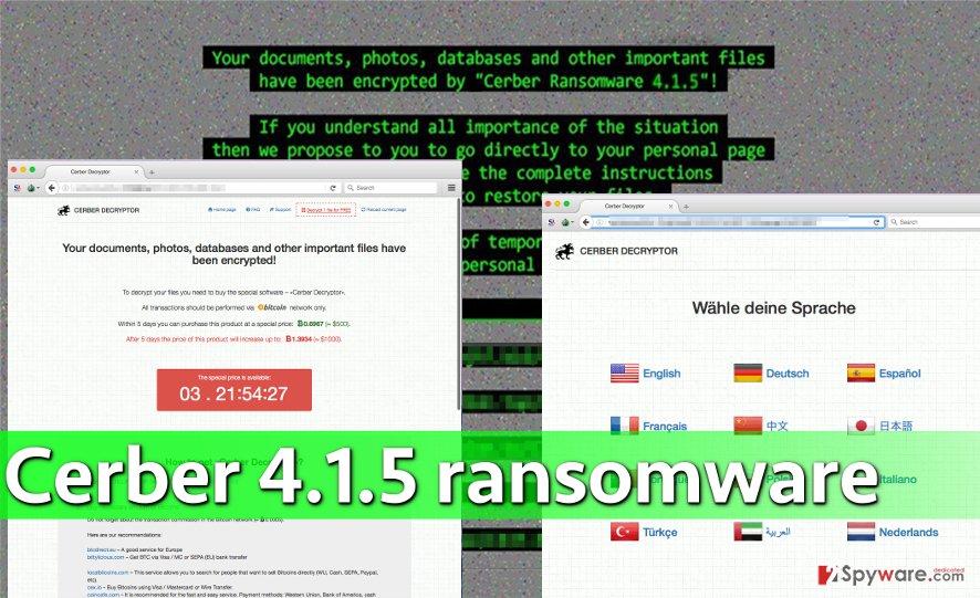 Cerber 4.1.5 attack
