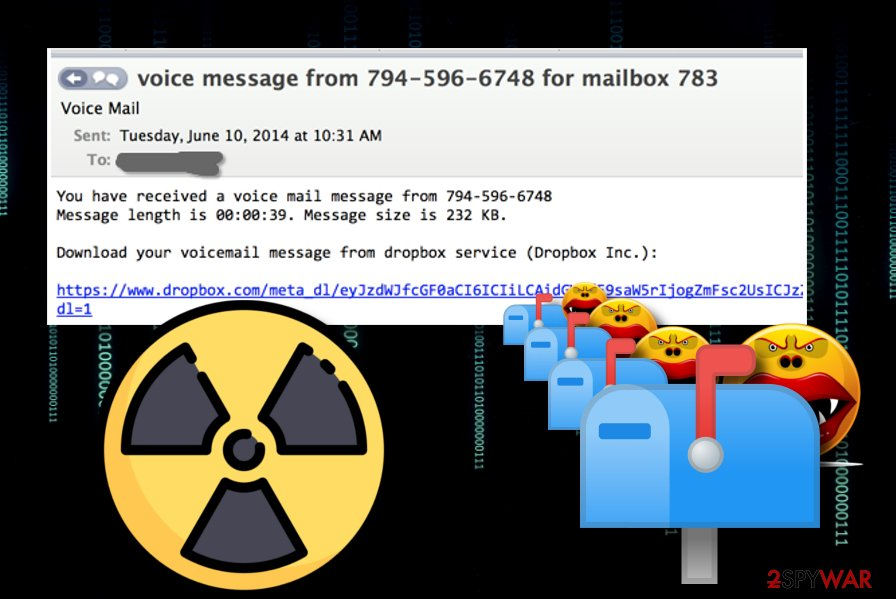 Dropbox fake voice mail