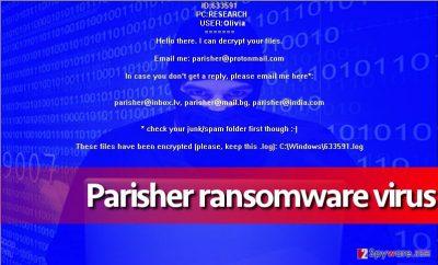 Parisher virus on test computer