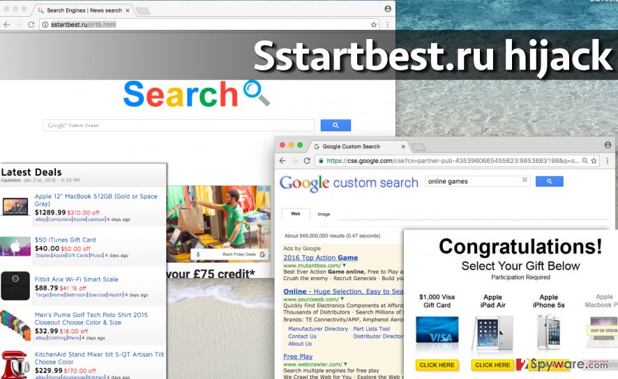 Image of Sstartbest.ru redirect virus