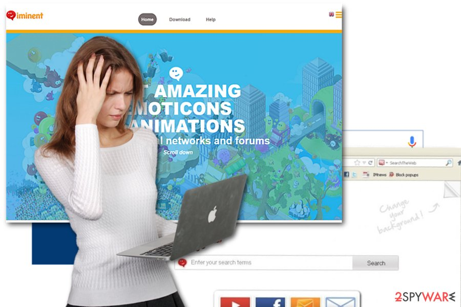The picture of the home page of Iminent Toolbar