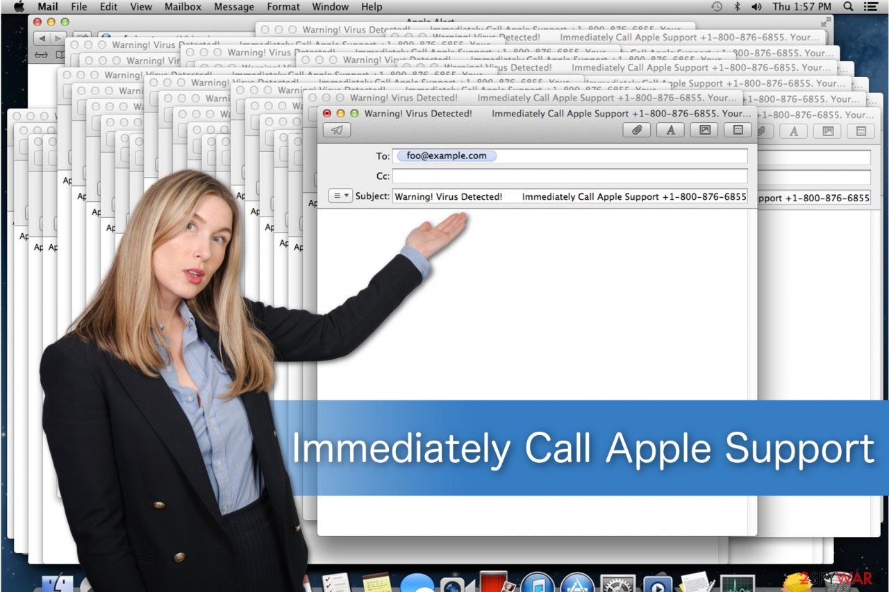 Immediately Call Apple Support scam illustration