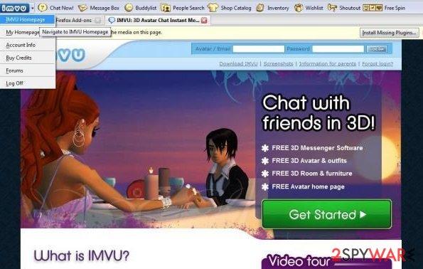 Remove IMVU Toolbar