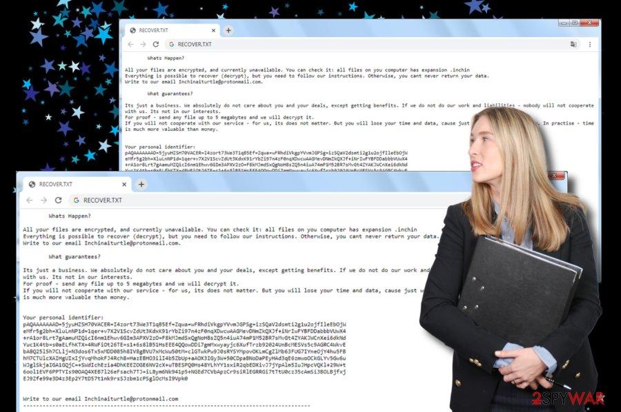 Inchin ransomware virus