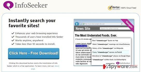 Info Seeker virus snapshot