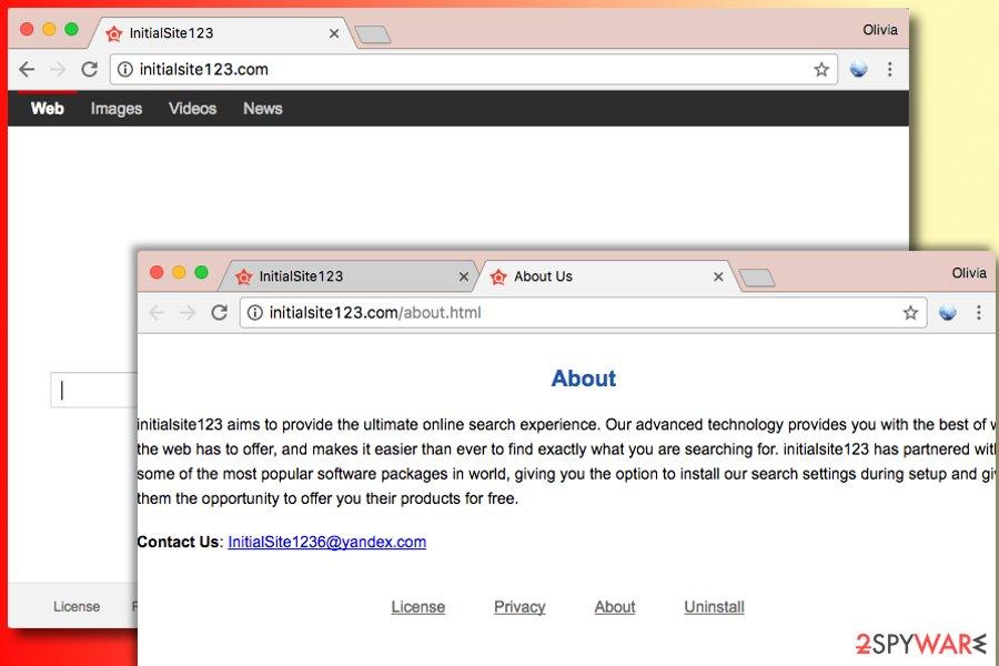 InitialSite123.com redirect virus
