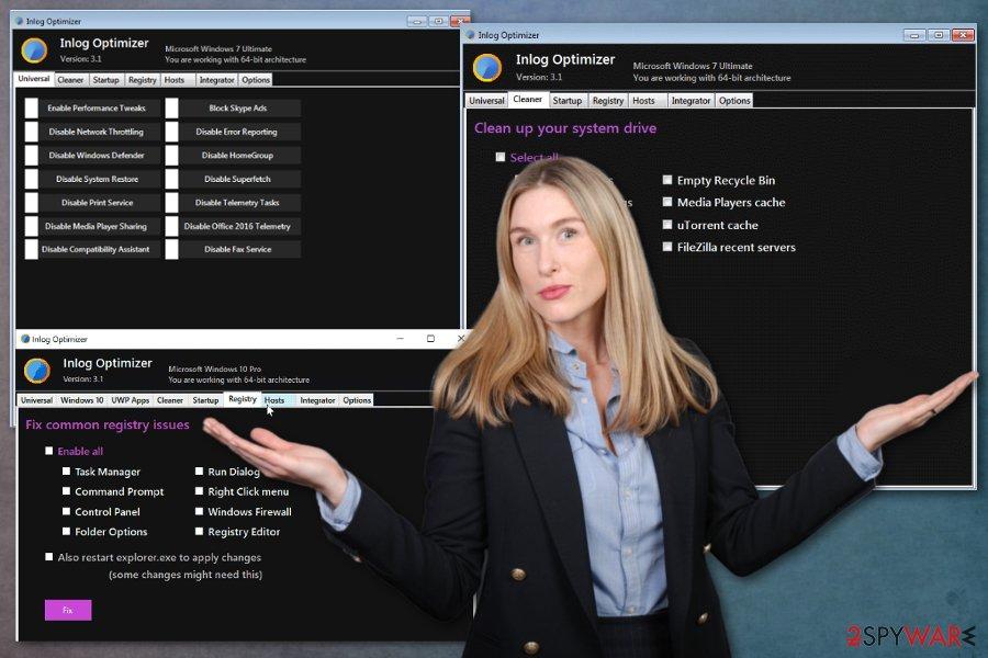 Inlog Optimizer virus
