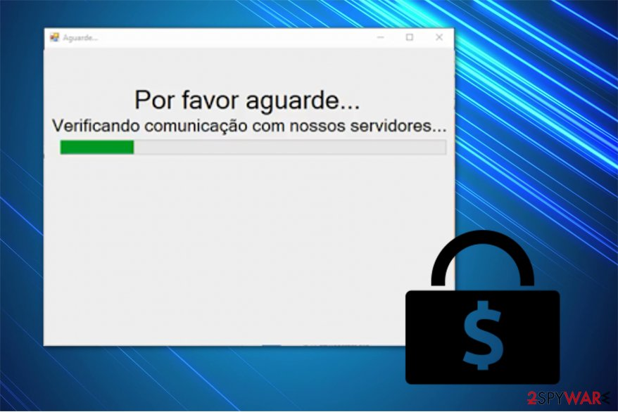 The image of Instalador ransomware