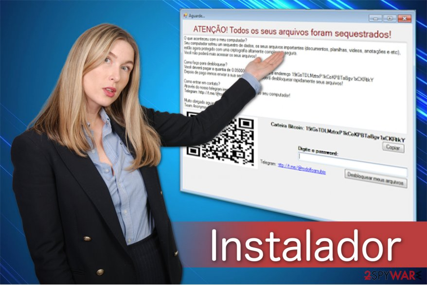 The illustration of Instalador ransomware