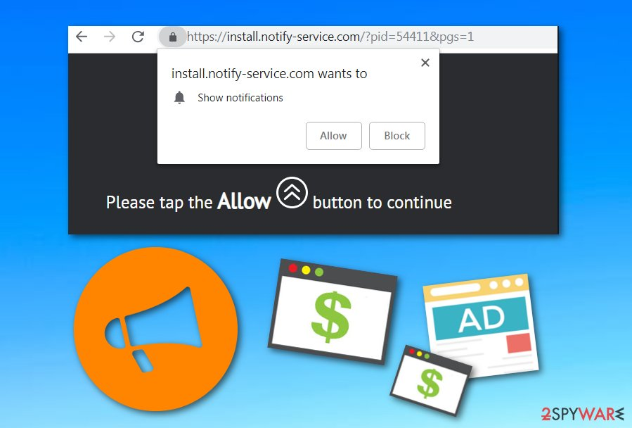Install Notify Service adware