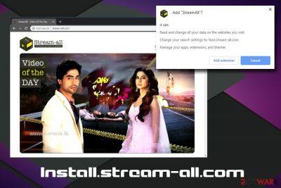 Install.stream-all.com browser hijacker