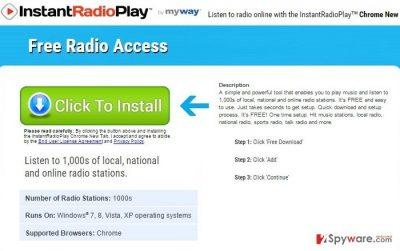 InstantRadioPlay Toolbar