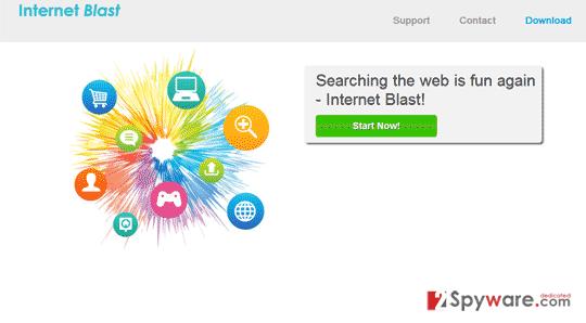 Internet Blast ads snapshot