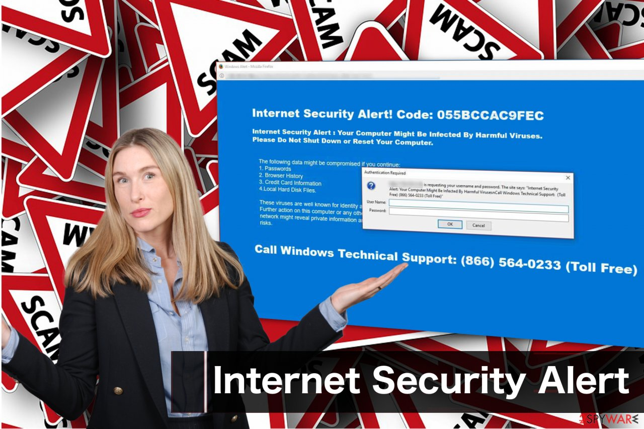 Internet Security Alert scam message