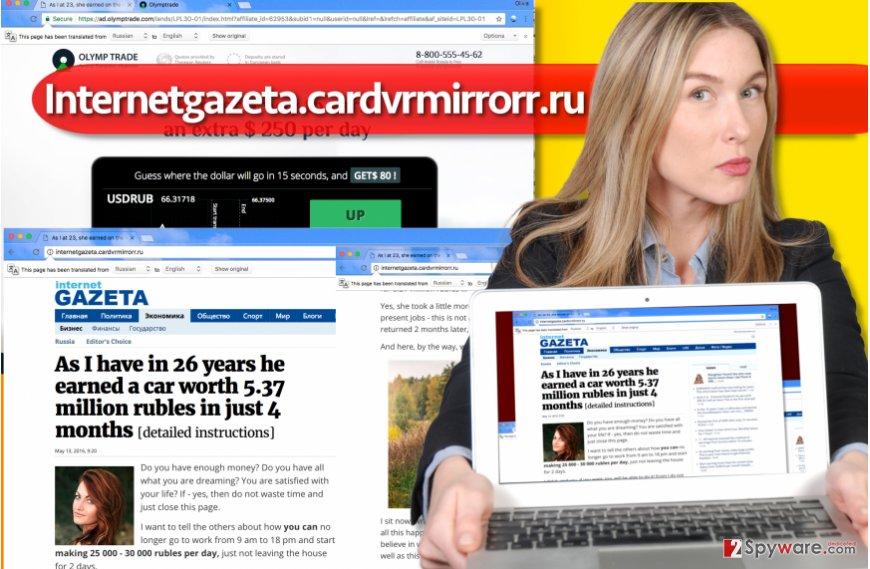 Internetgazeta.cardvrmirrorr.ru virus