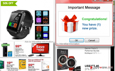Interstitial Information virus ads examples