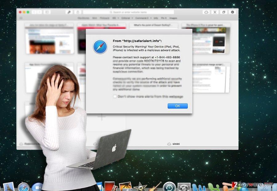 The picture illustrating IOS crash scam