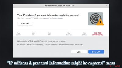 """""""IP address & personal information might be exposed"""" scam"""