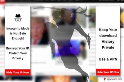 The image displaying IP Ninja ads
