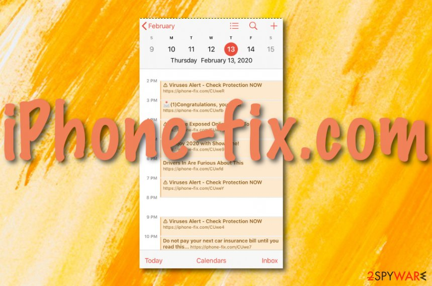 iPhone-fix.com calendar spam virus