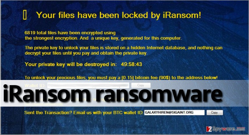 Message from iRansom virus
