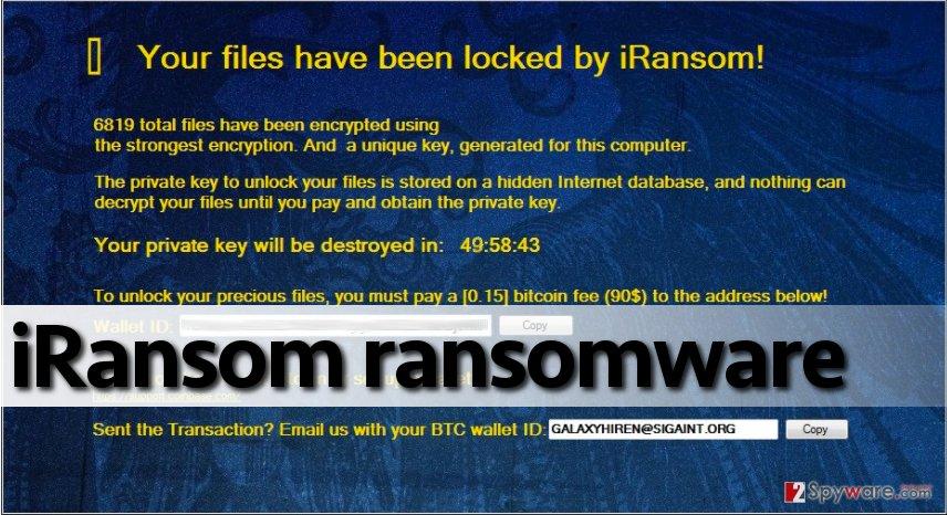 Message from iRansom virus
