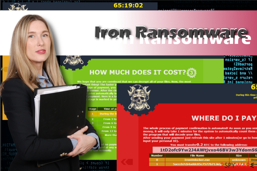 Iron ransomware printscreens