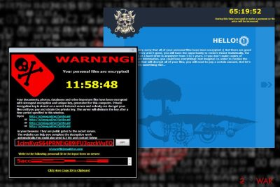 Iron is a ransomware from Maktub family