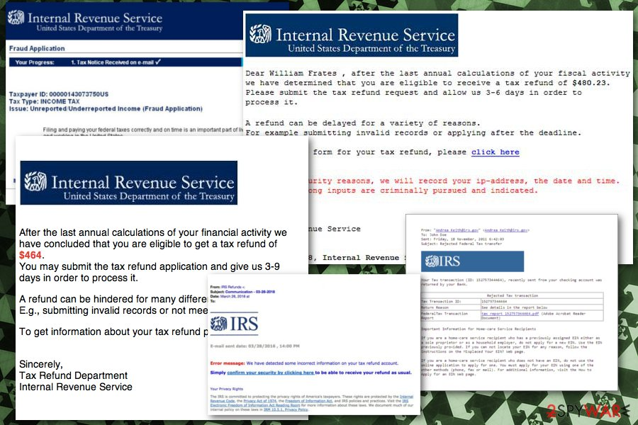IRS fake email alert