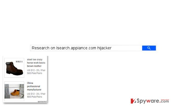 Isearch.appiance.com redirects can lead you to dangerous websites